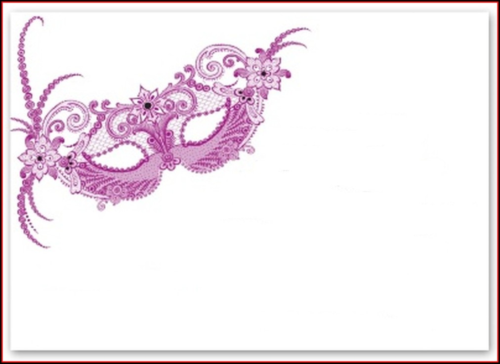Masquerade Invitation Template Free