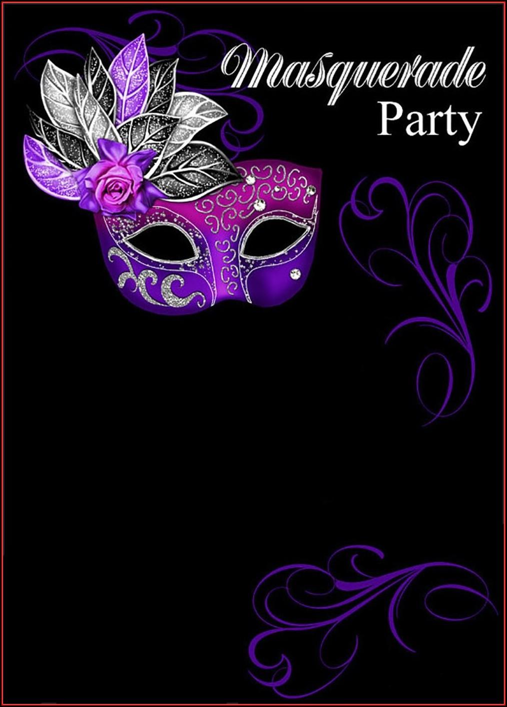Masquerade Mask Invitation Template Free