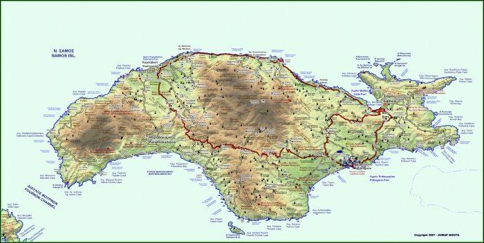 Maui Hawaii Topographic Map