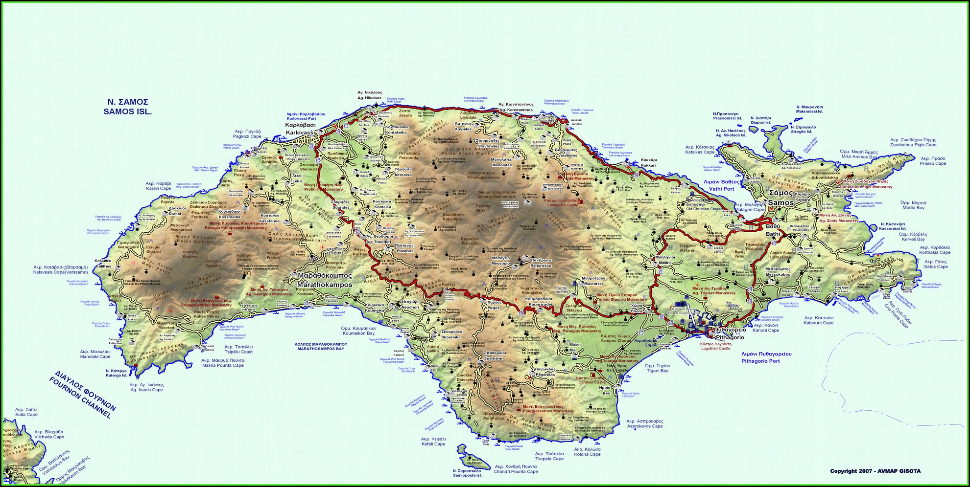 Maui Hawaii Topographic Map