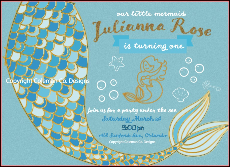 Mermaid Invitation Designs