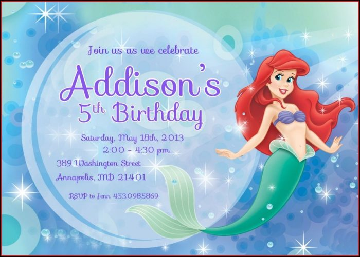 Mermaid Invitation Templates