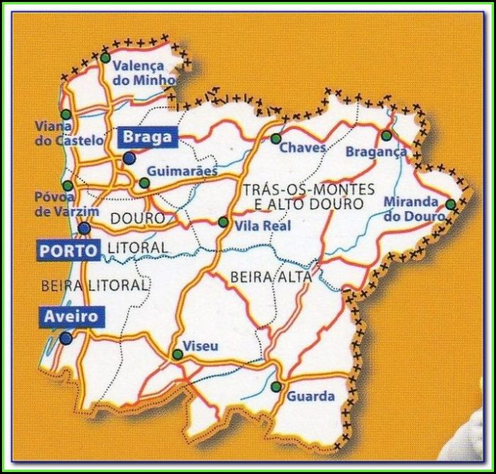 Michelin Map Northern Portugal