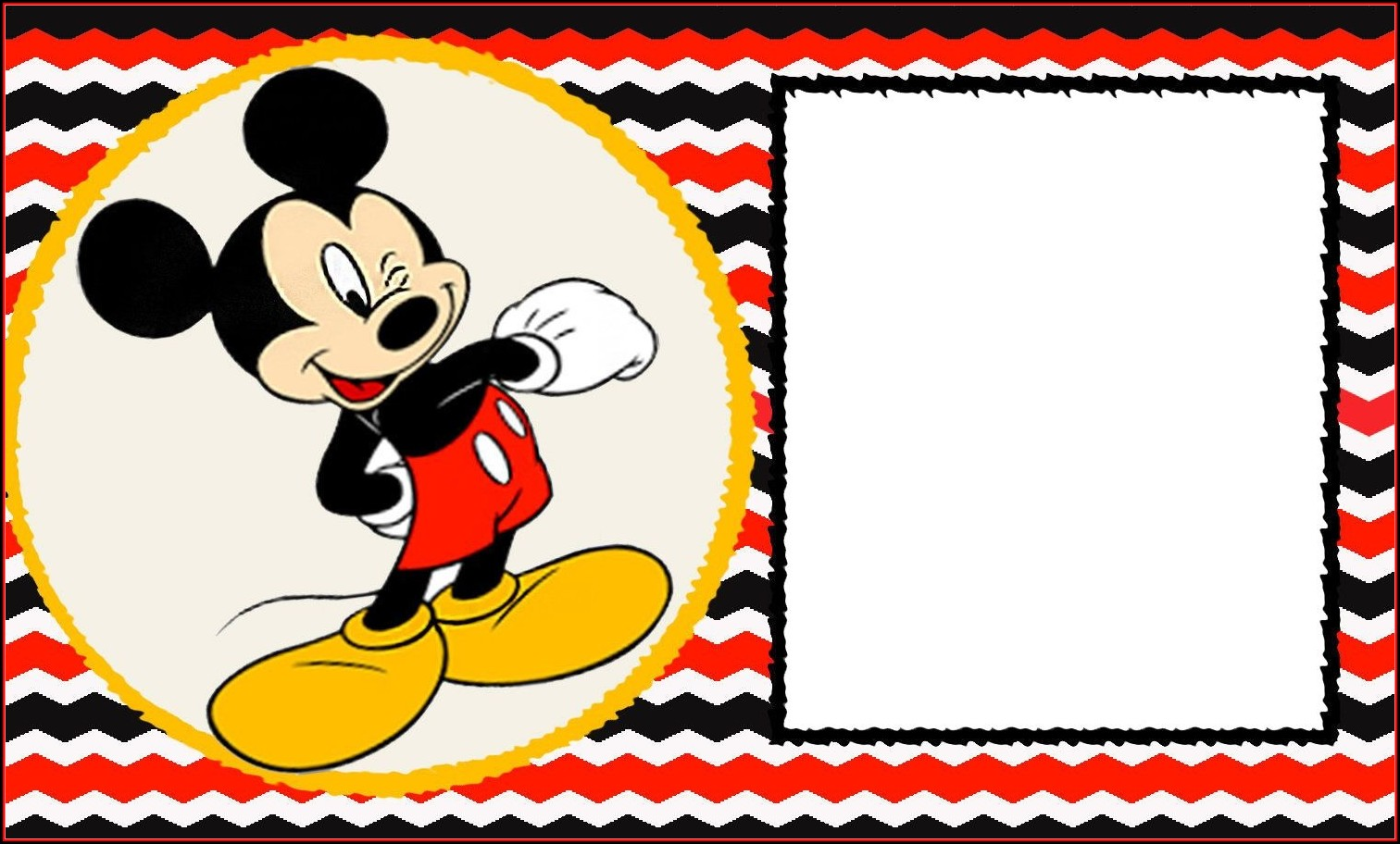 Mickey Mouse Birthday Invitation Templates Free