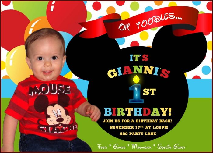 Mickey Mouse Birthday Invitation Wording Ideas