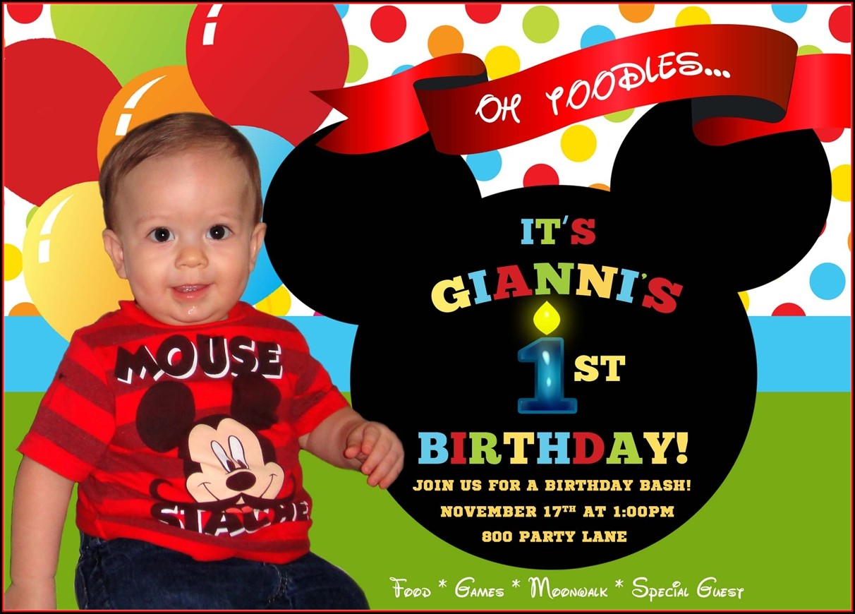 Mickey Mouse Birthday Invitation Wording Ideas