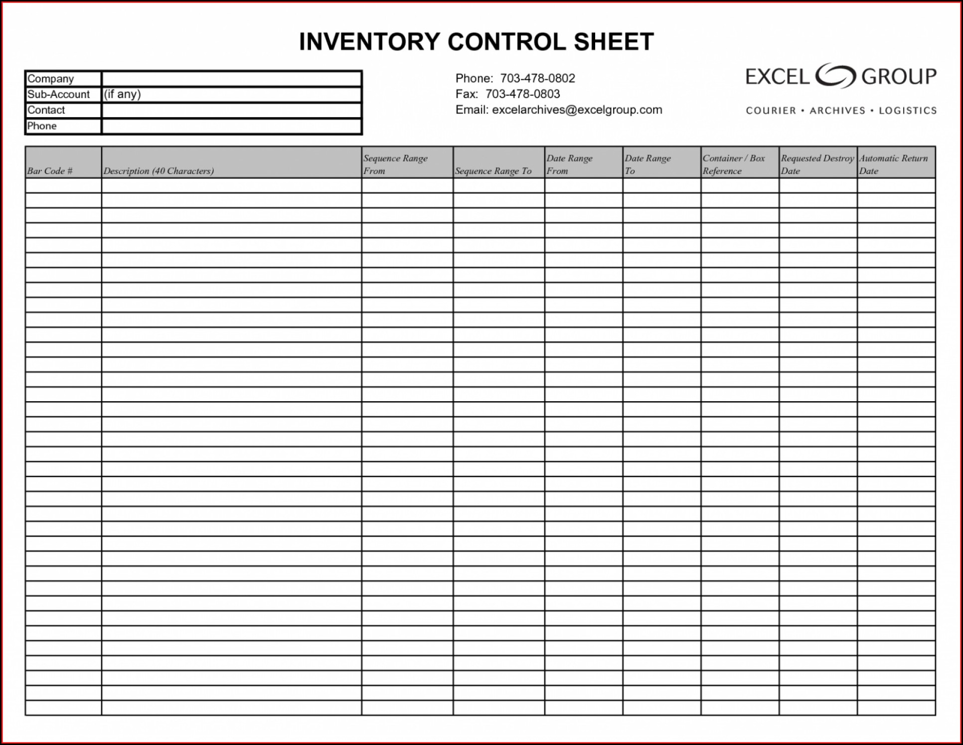 Microsoft Excel Inventory Management Template