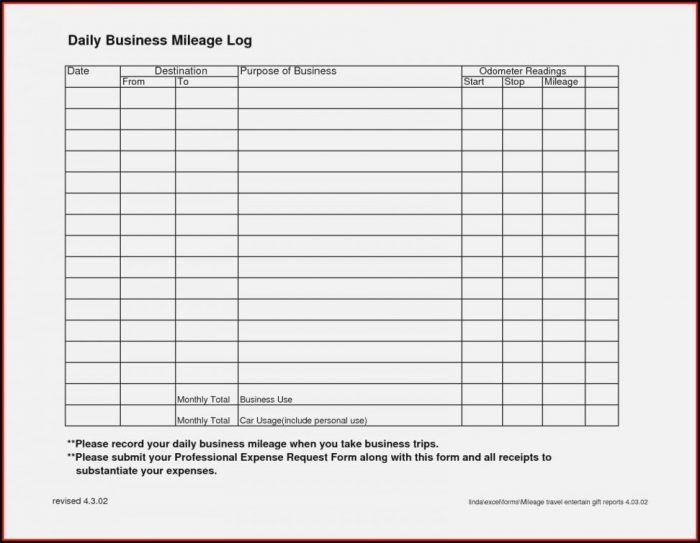 Mileage Expenses Template Uk