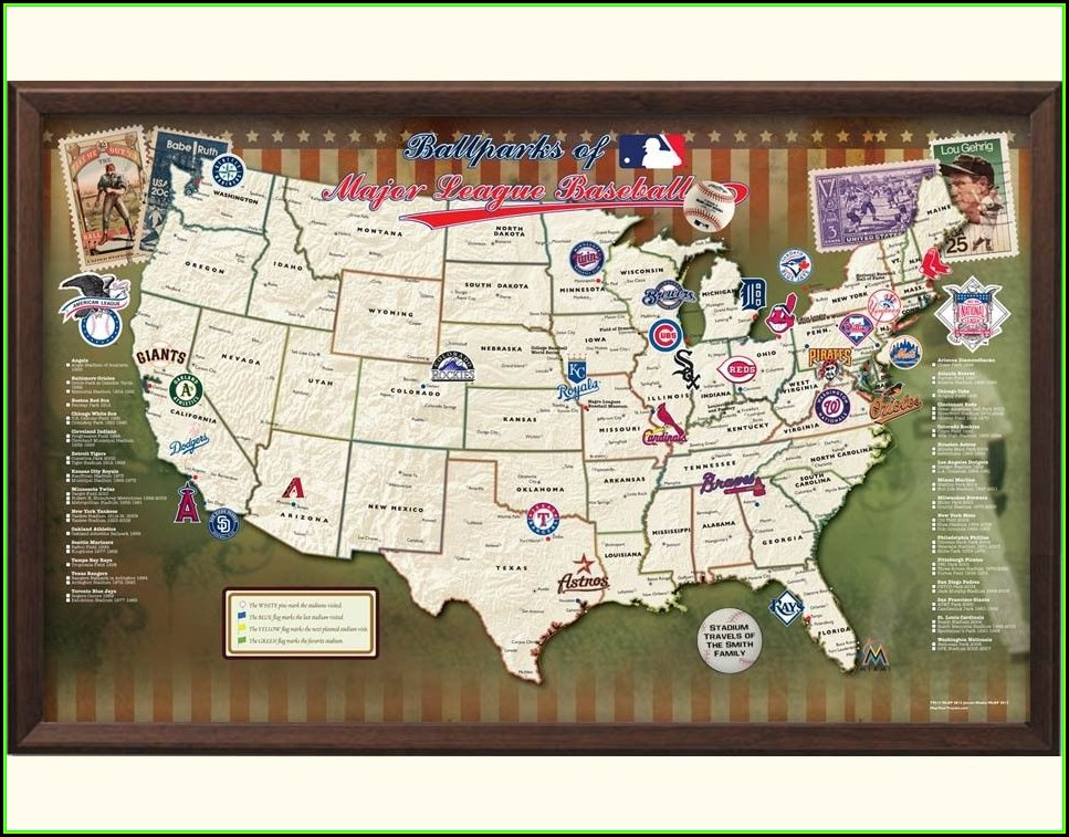 Mlb Stadium Travel Map