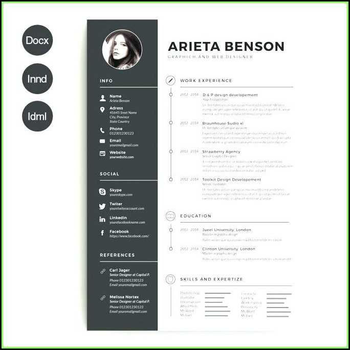 Modern Cv Template Word Free Download 2019
