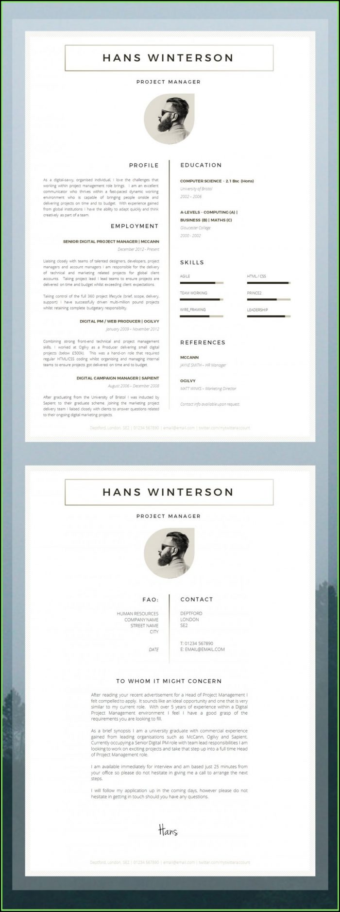 Modern Cv Template Word Free Download Indonesia