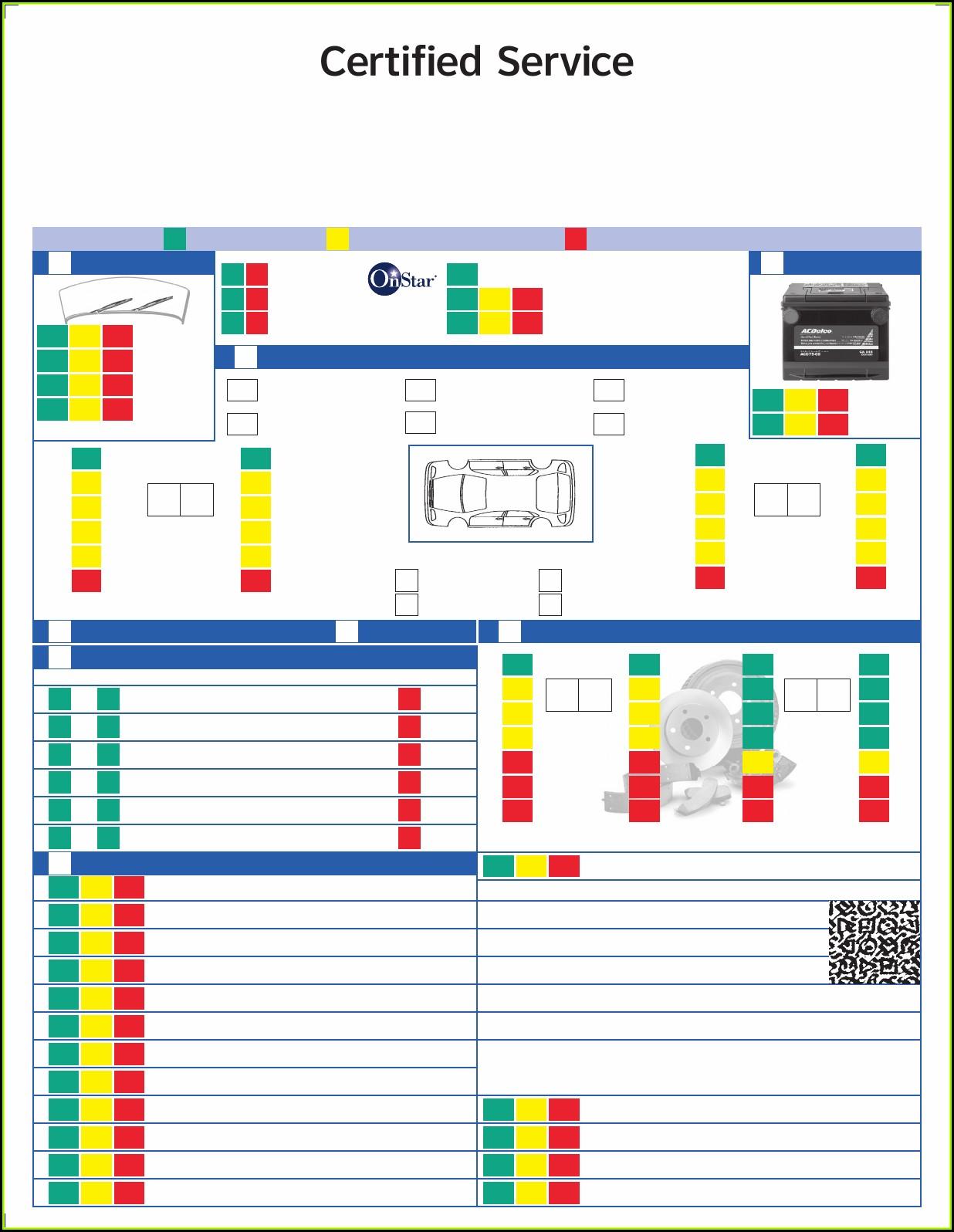 Multi Point Vehicle Inspection Form Pdf