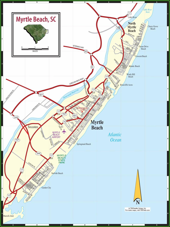 Myrtle Beach Tourist Attractions Map