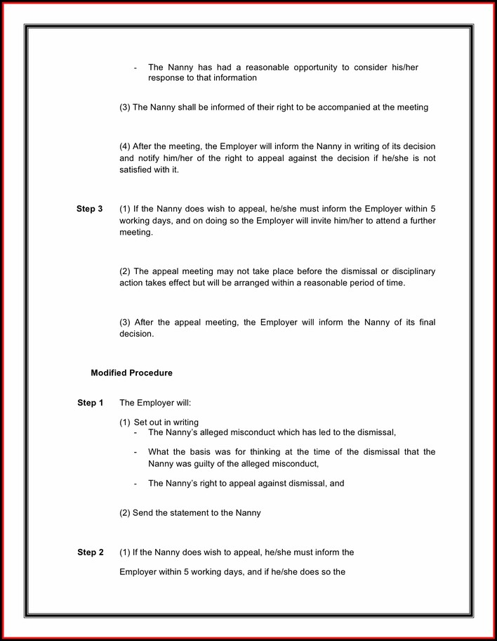 Nanny Contract Template Pdf