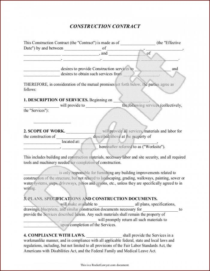 Nanny Contract Template Uk