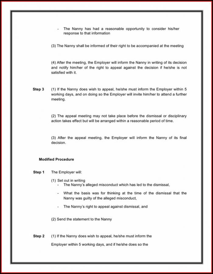 Nanny Contract Template Word