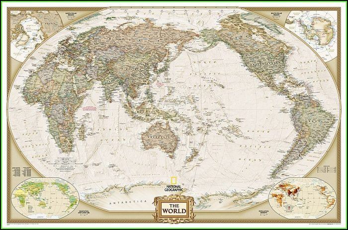 National Geographic World Map Laminated