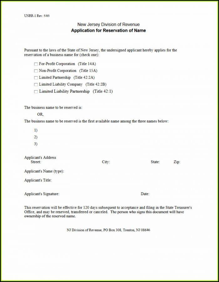 New Jersey Divorce Paperwork