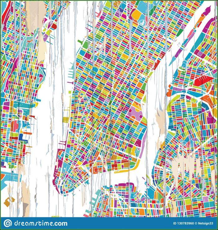 New York City Map Artwork