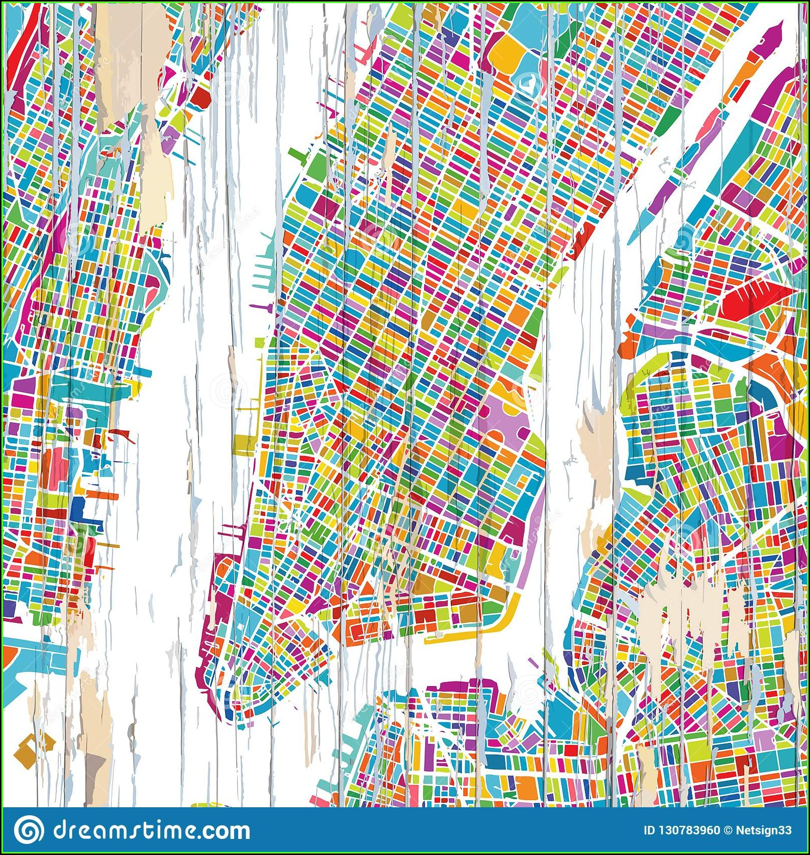New York City Map Artwork