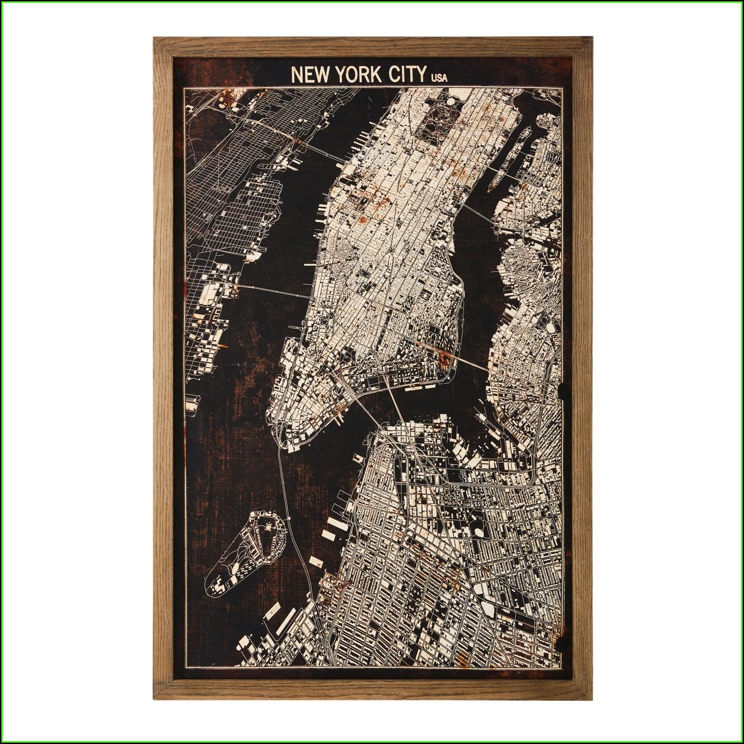 New York Map Artwork