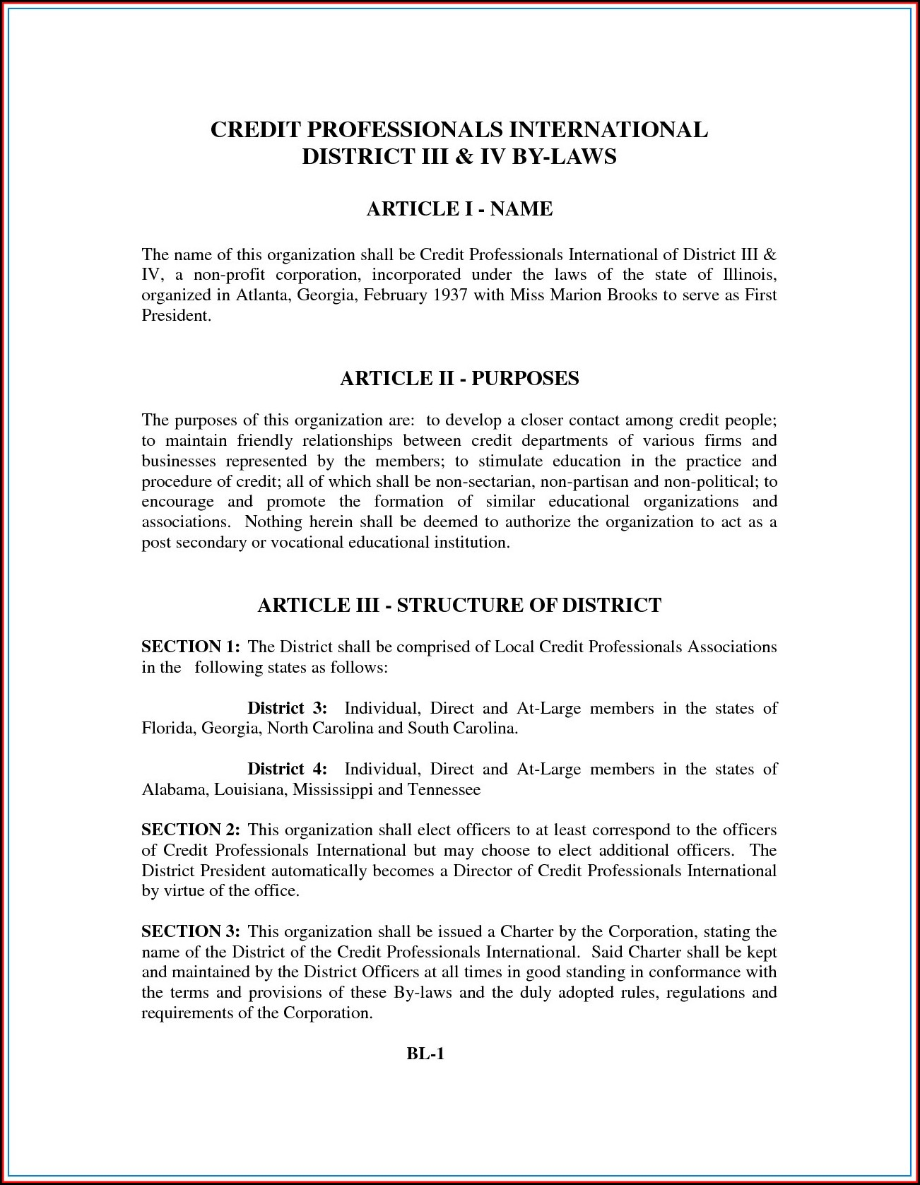 Non Profit Bylaws Template Louisiana