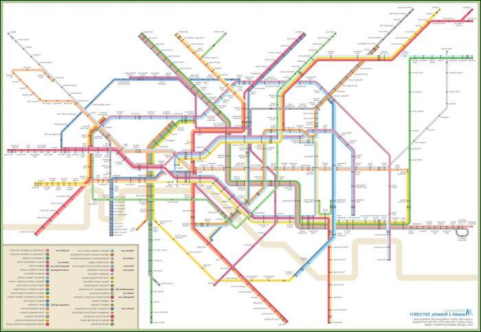Nyc Mta Subway Map Poster
