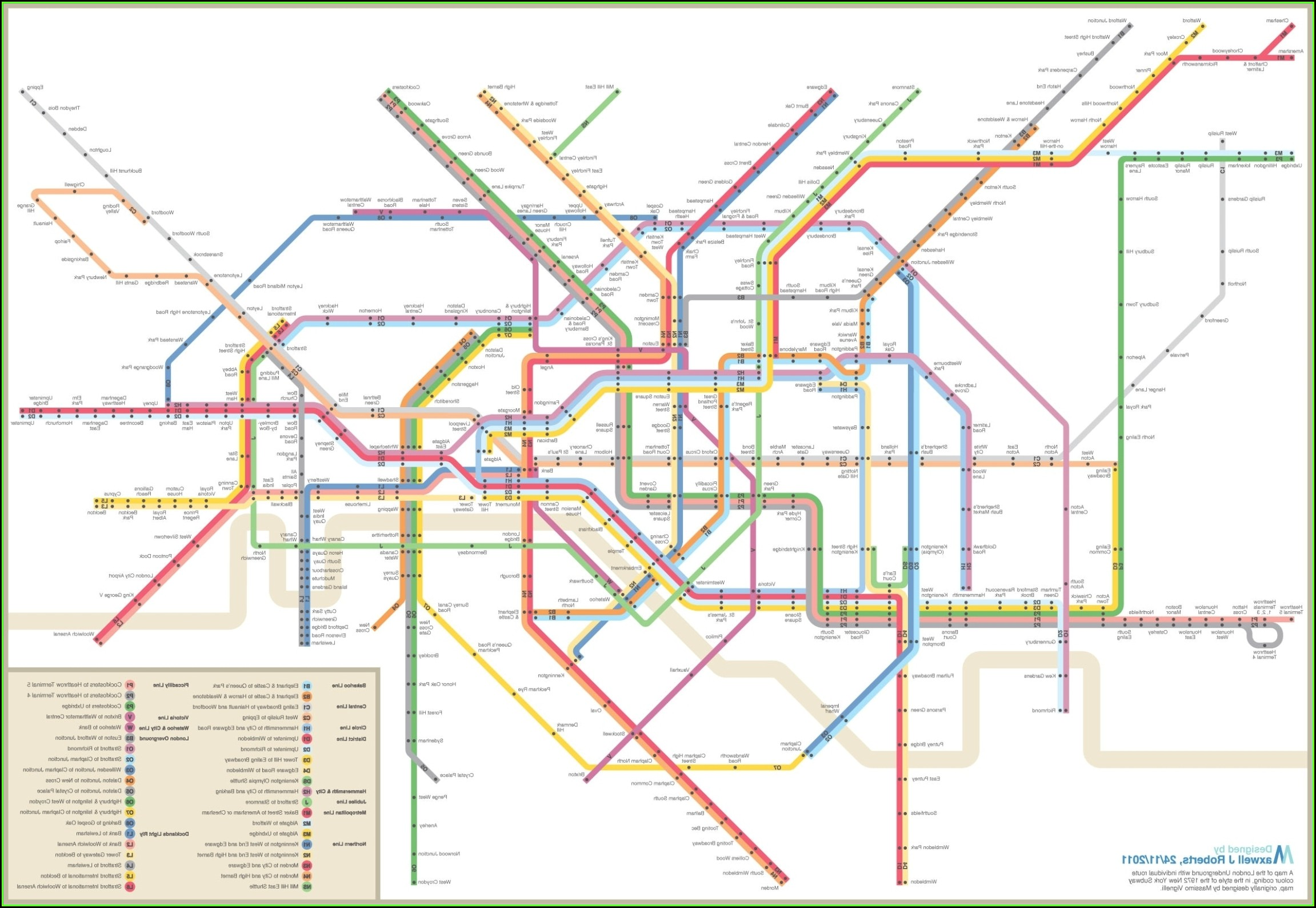 Nyc Mta Subway Map Poster