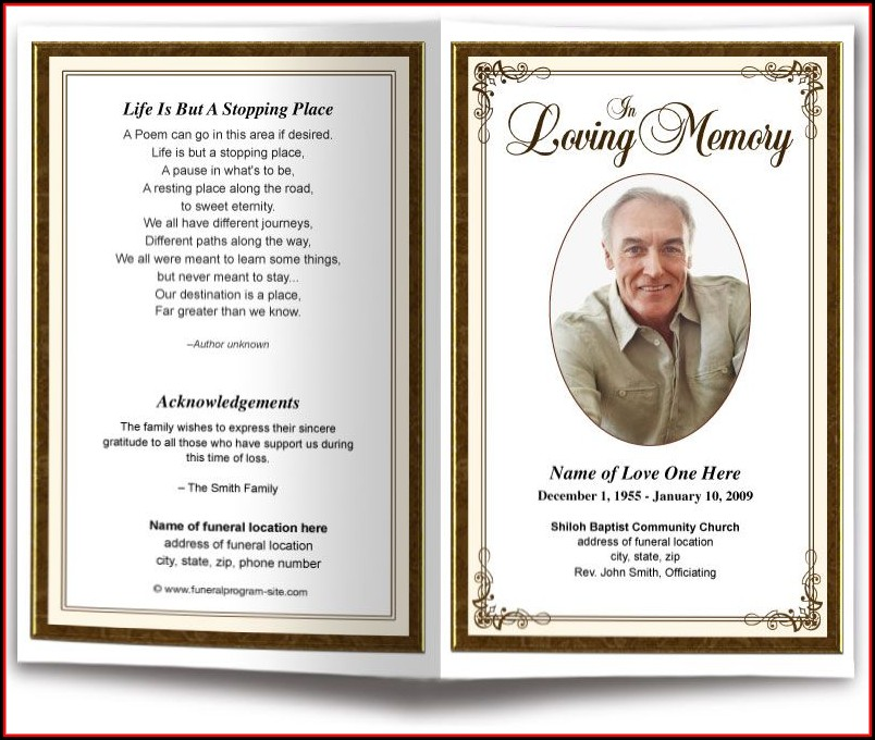 Obituary Program Samples