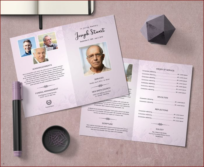 Obituary Program Template Download