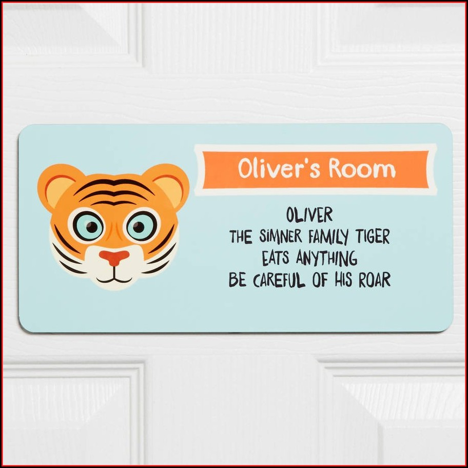 Office Door Name Signs Template