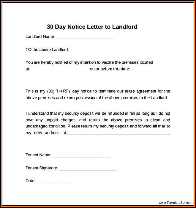 Ohio 30 Day Eviction Notice Form Free