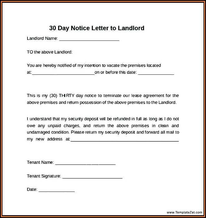 Ohio 30 Day Eviction Notice Form Free