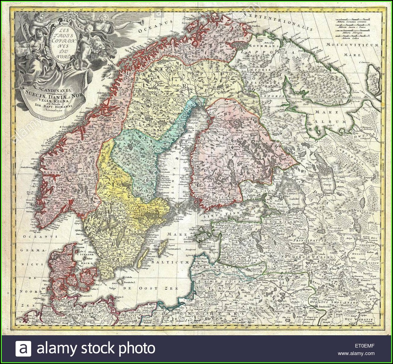 Old Fashioned Map Of Scandinavia