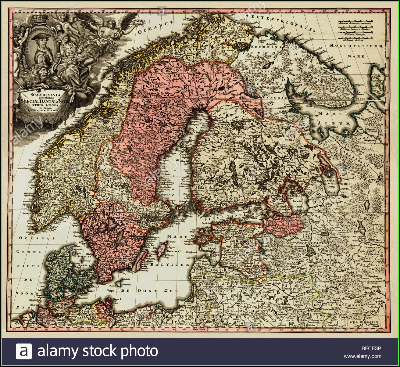 Old Map Of Scandinavia