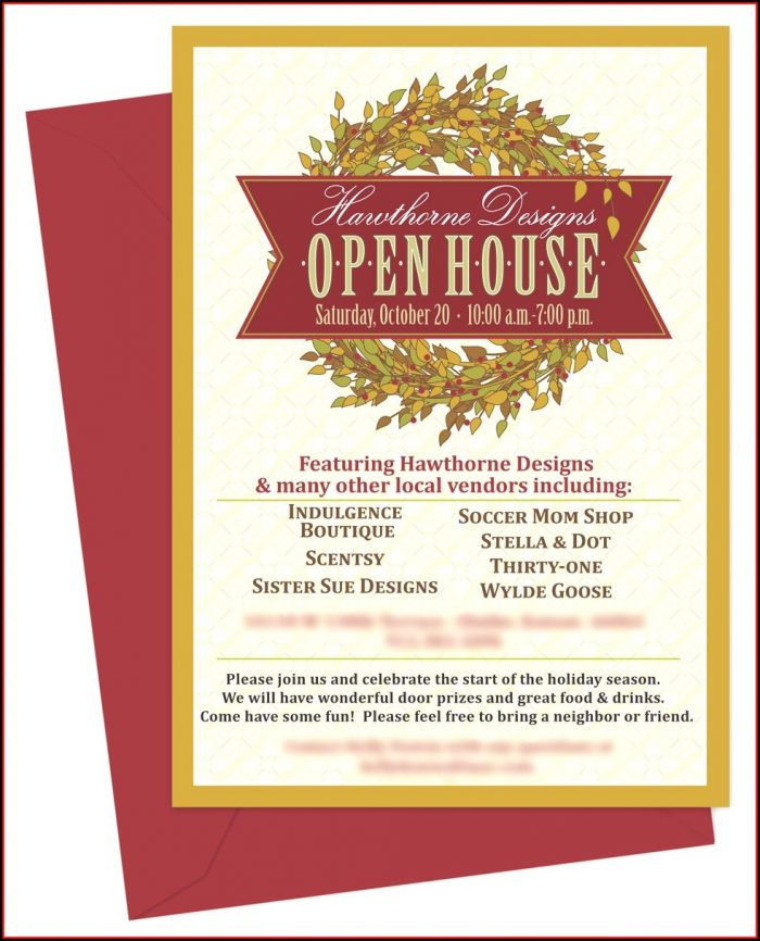 Open House Invitation Sample
