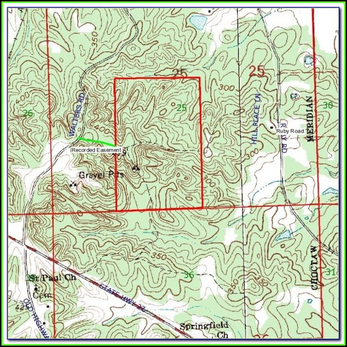 Oregon Coast Topo Map