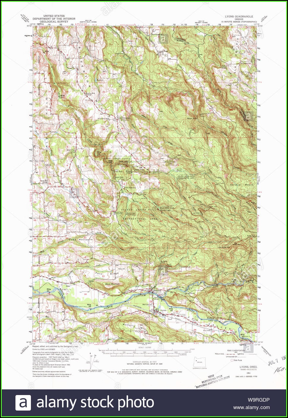 Oregon Topo Map