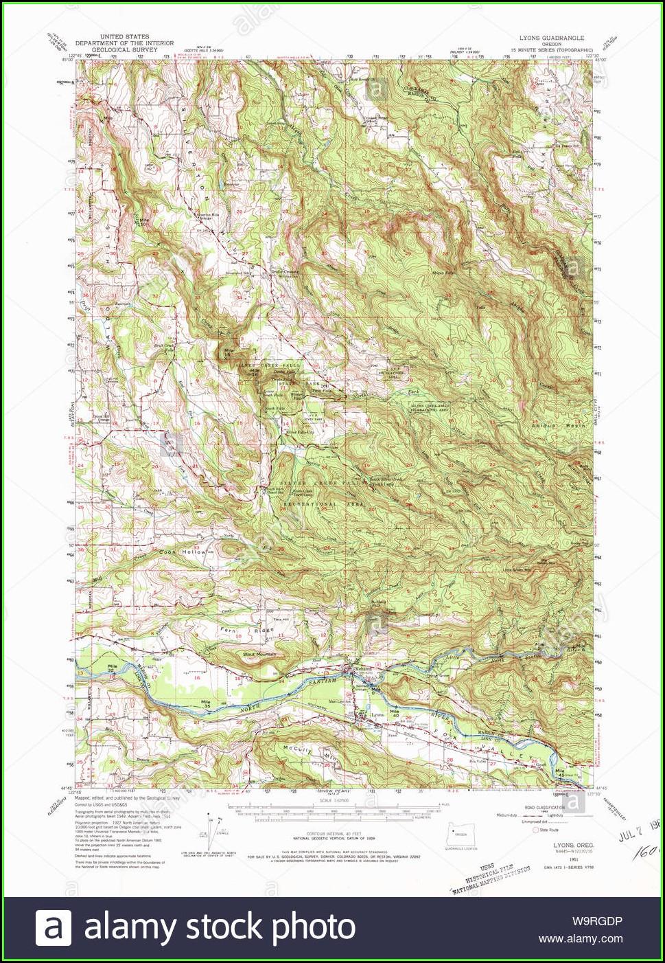 Oregon Topo Map