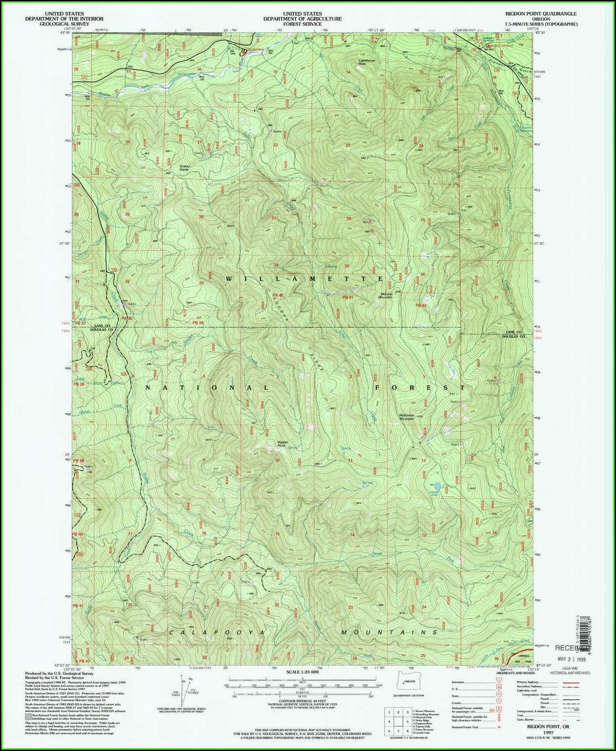 Oregon Topo Maps Free