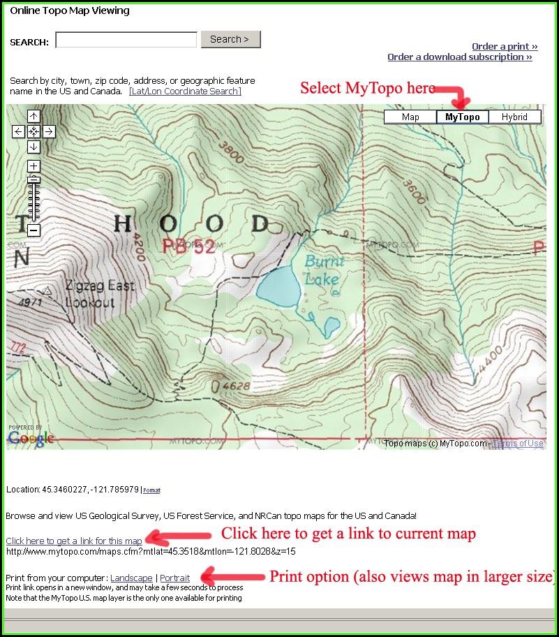 Oregon Topo Maps Online