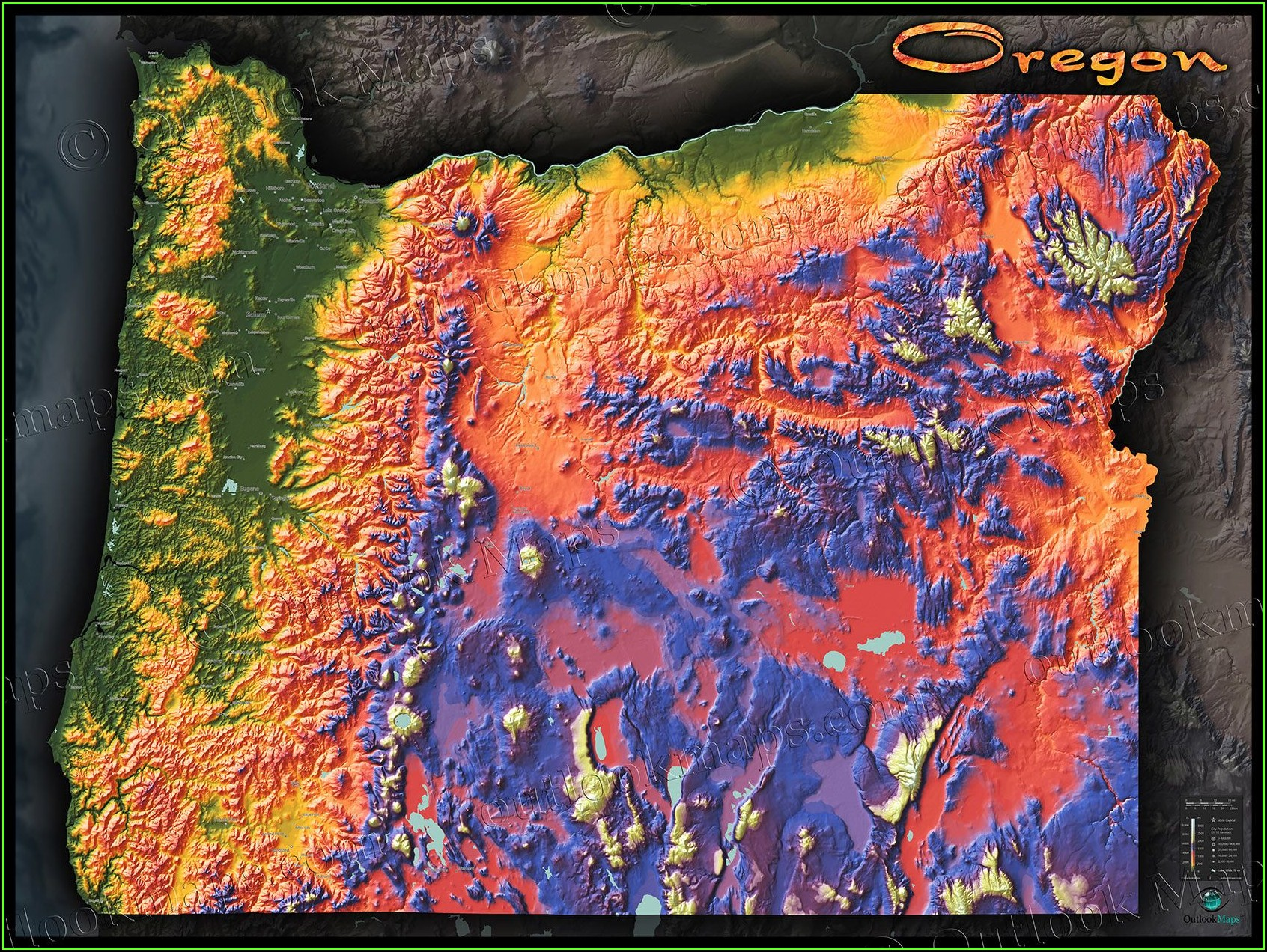 Oregon Topographic Map