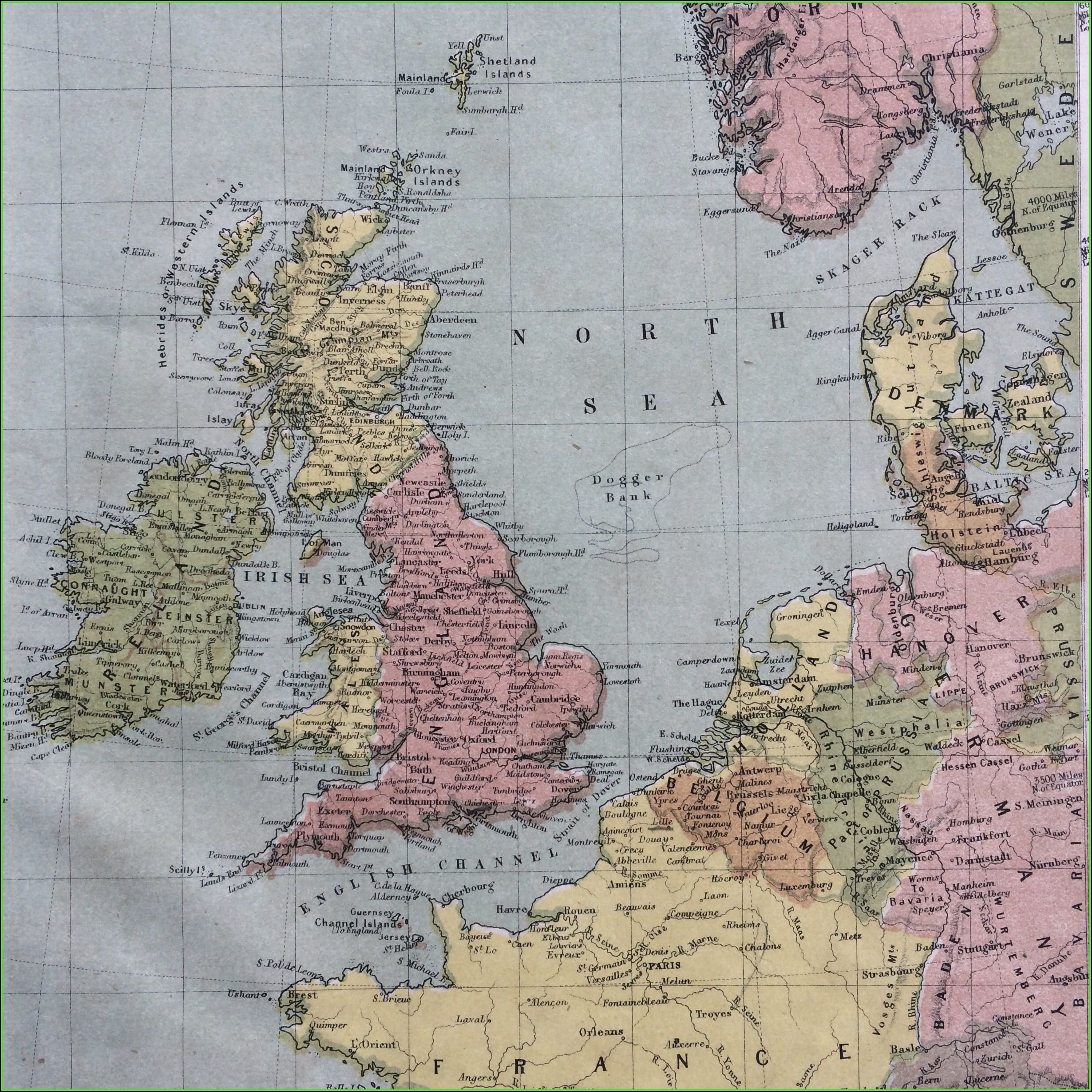 Original Antique Maps Uk