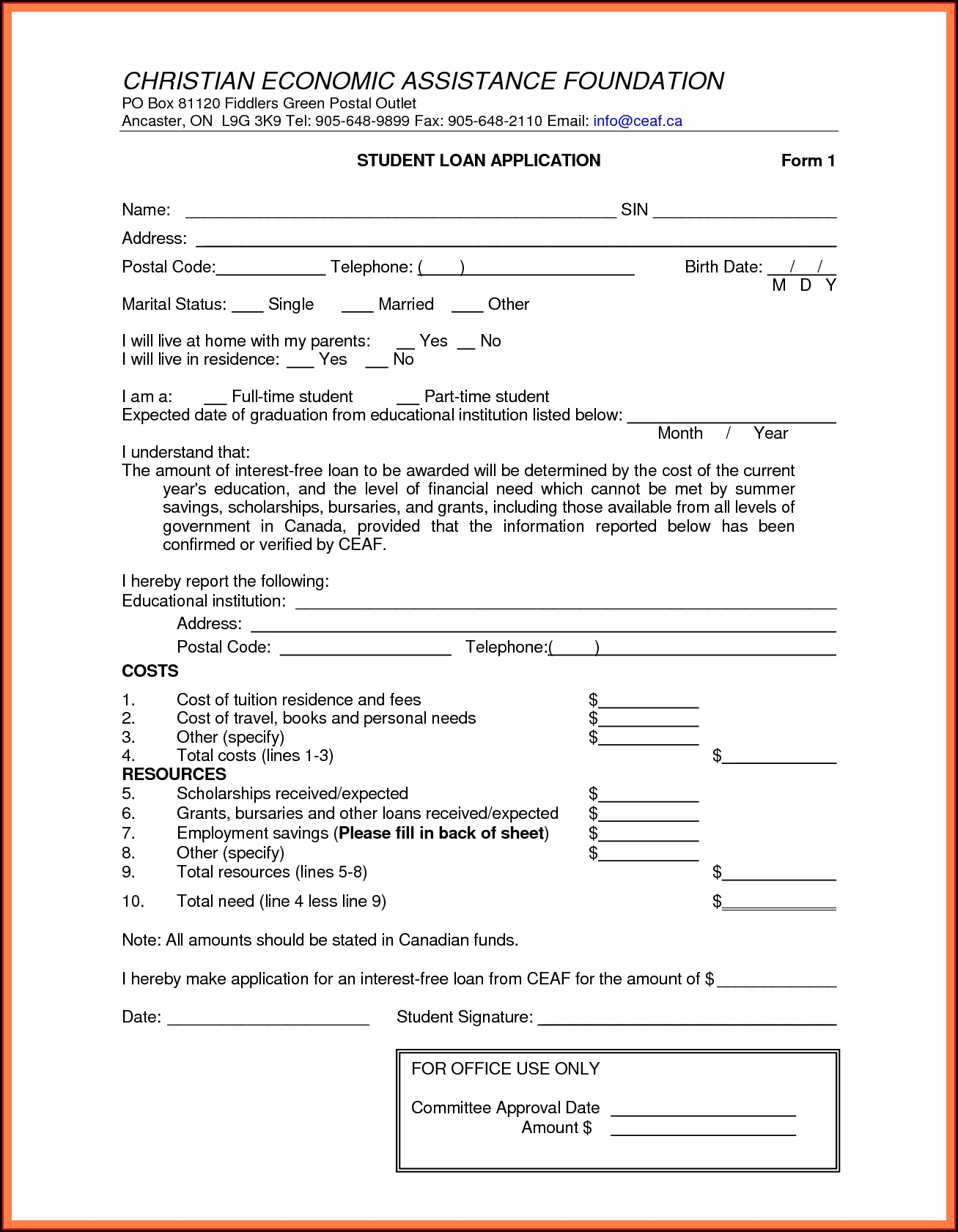 Personal Loan Contract Template Free Uk