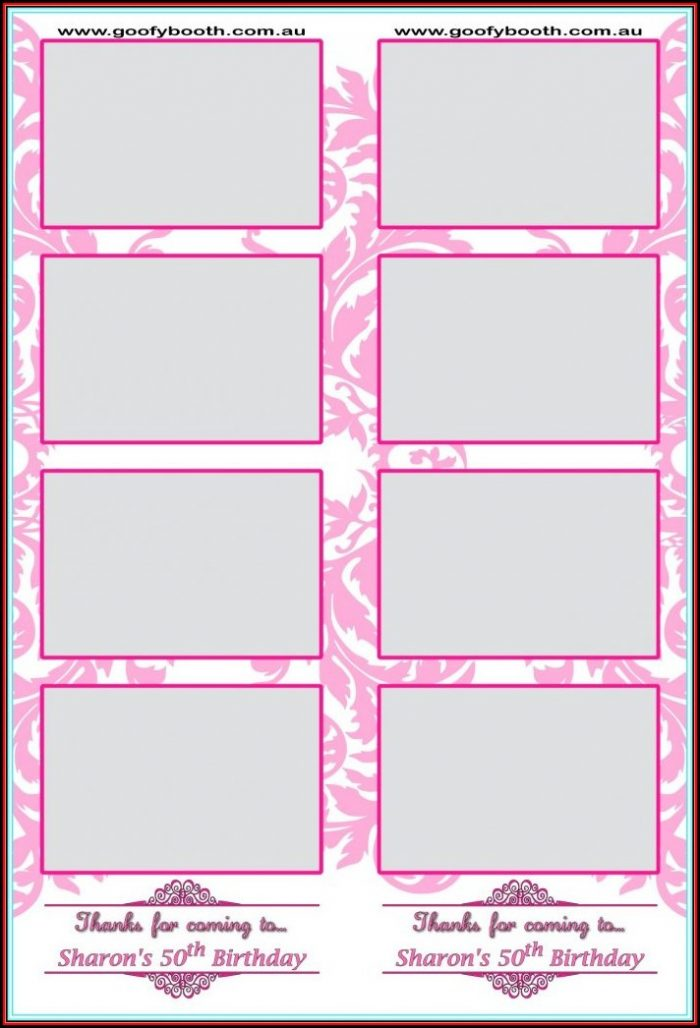 Photo Booth Picture Strip Template