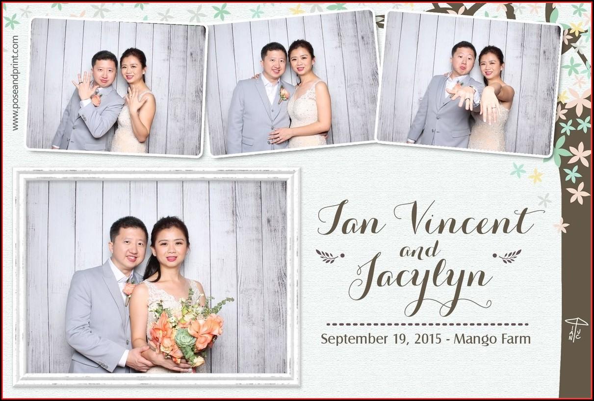 Photo Booth Strip Template Wedding