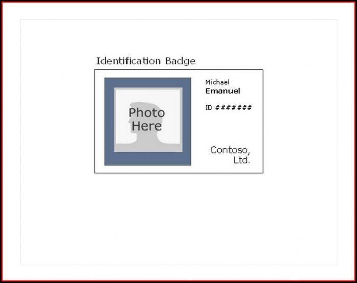 Photo Id Badge Template Free
