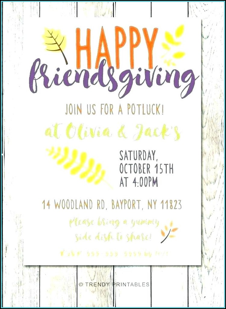Potluck Invitation Template Free Editable