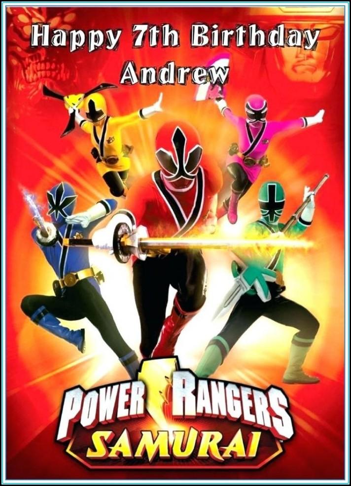 Power Rangers Invitations Template Free