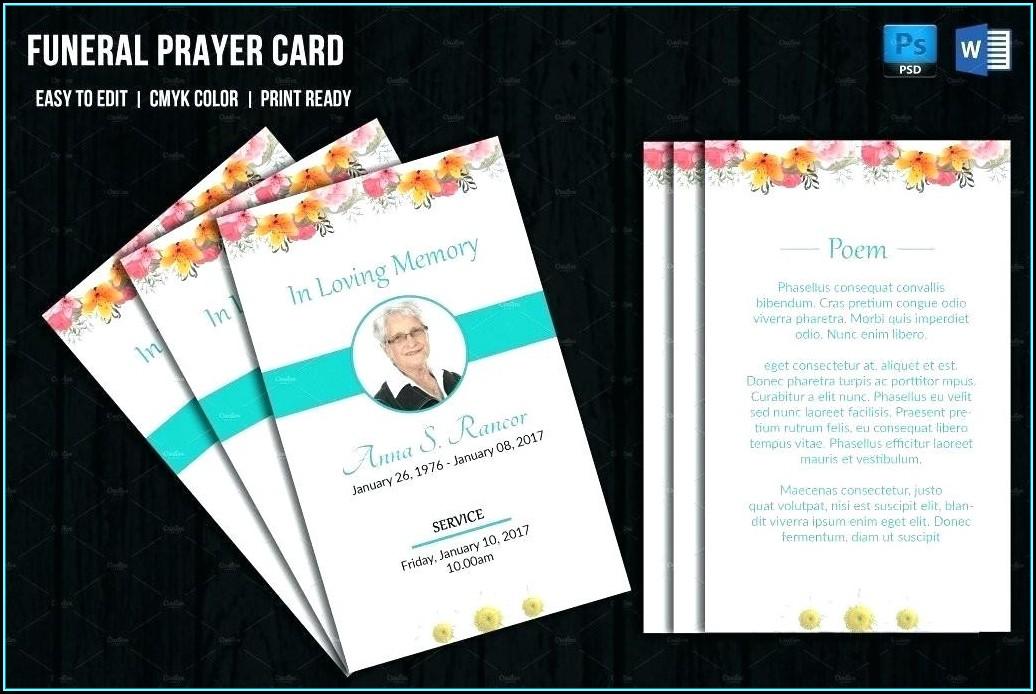 Prayer Card Template Free